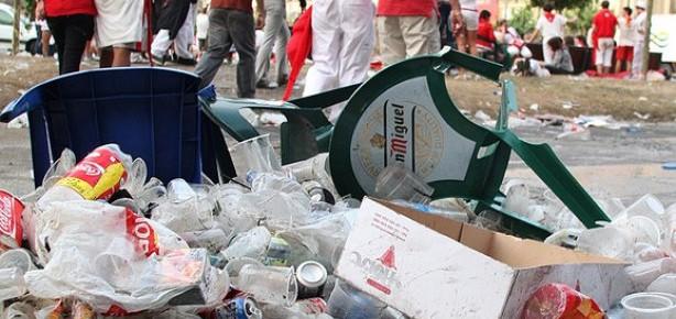 Los residuos de los Sanfermines