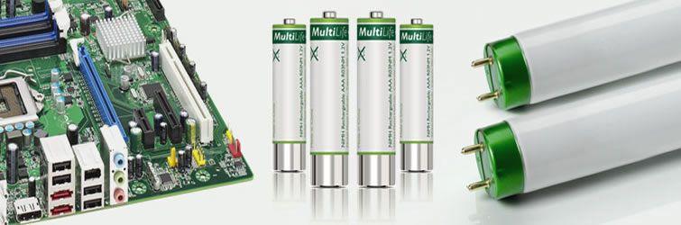 RESIDUOS PELIGROSOS Fluorescentes, Pilas, Tóner, Material Informático